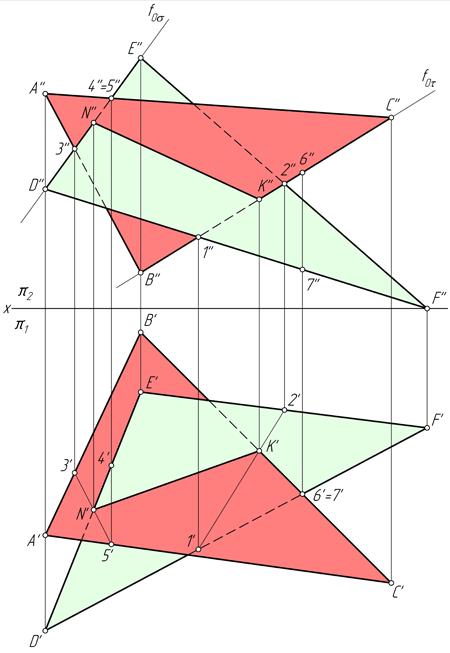 Решение задачи пересечение треугольников решение задачи сторона одного треугольника соответственно равны